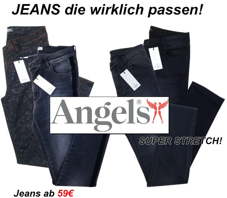 damen angels jeans in der steiermark_damen modische jeans damen trendige super stretch jeans